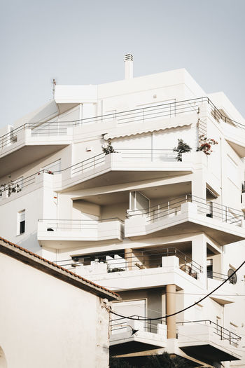 Apartment Architecture Balcony Building Building Exterior Built Structure City Clear Sky Day House Low Angle View Modern Nature No People Outdoors Residential District Sky Sunlight White Color Window