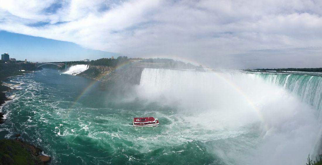 Postcard Worthy Rainbow Niagara Falls Waterfall Postcard