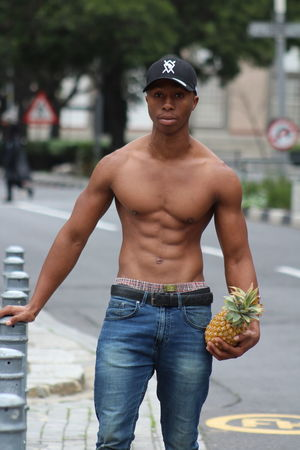 Casual Clothing City Day Focus On Foreground Food And Drink Front View Leisure Activity Lifestyles Looking At Camera Males  Men One Person Outdoors Portrait Real People Shirtless Standing Three Quarter Length Young Adult Young Men The Fashion Photographer - 2018 EyeEm Awards