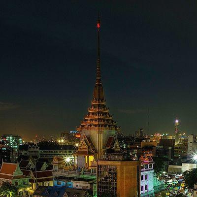 Fujifilm Fujixm1 Goldenbuddhatemple Nighttime Ig_thailandia Igworldclub Igerth Thailand_allshots Thaistagram BKK Bangkok Temple Longexposure InstaPlace Igoftheday Instaoftheday Lightroom