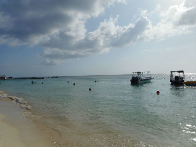 Honduras Roatan Bay Islands Beach Beauty In Nature Cloud - Sky Day Horizon Over Water Nature Nautical Vessel No People Outdoors Scenics Sea Sky Tranquility Transportation Water Waterfront