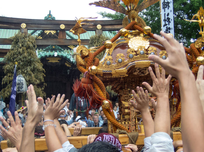 Exciting Day!!! Japan Tokyo,Japan Festival Portable Shrine 御神輿 御神輿(Omikoshi) 牛島じn