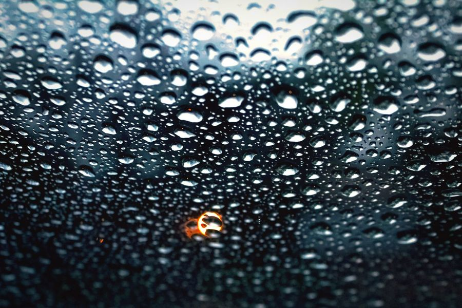 """""""Precipitation"""" (2017) Raindrops Close-up Raindrops On My Windshield Water Wet No People Outdoors Beauty In Nature Droplets Of Water"""