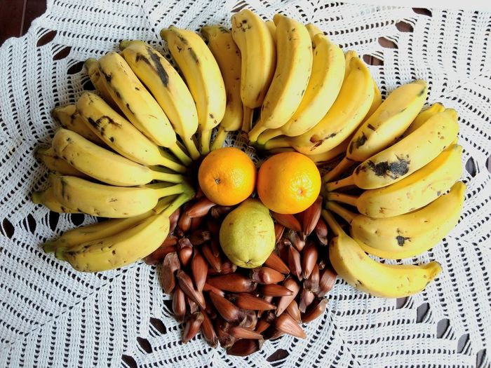 cara de fruta Eyeem Market Banana Pear Orange Pinha Happy Face Fruit Photography Art With Food The Still Life Photographer - 2018 EyeEm Awards Fruit Yellow Banana High Angle View Close-up Food And Drink Tropical Fruit