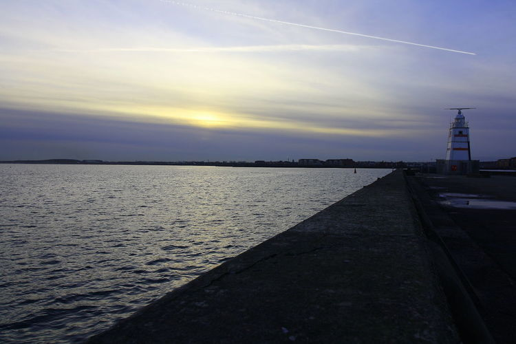 OUT AND ABOUT IN HARTLEPOOL Sky Water Direction Built Structure Sunset Cloud - Sky Architecture Nature Sea The Way Forward Scenics - Nature No People Tranquility Tranquil Scene Beauty In Nature Outdoors Diminishing Perspective Sunlight Building Exterior