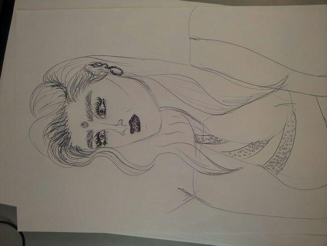 Handmade By Me Draw Hi! Open Edit Women Pen Getinspired Indiansari Portrait