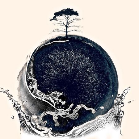 Artistic Edit Mini World Modified Black And White Tree Artistic Expression Water