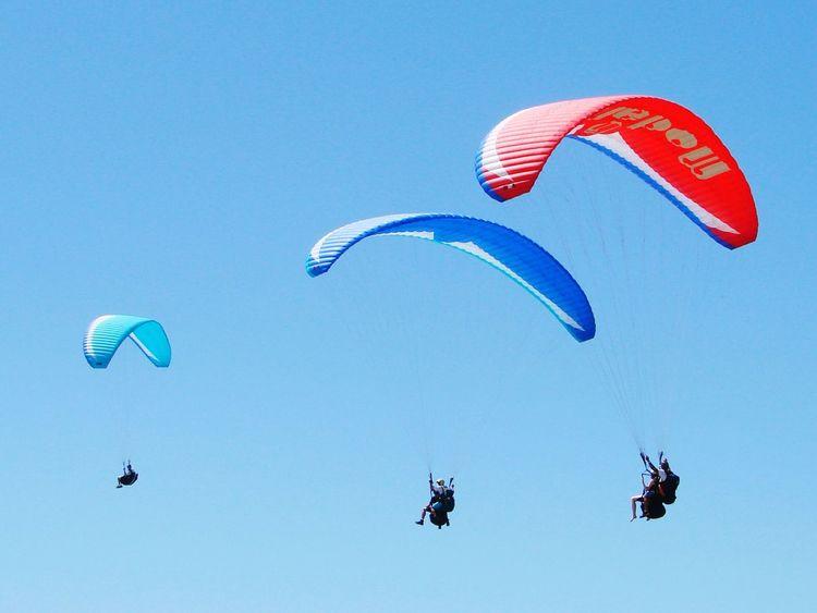 Voadores. Extreme Sports Flying Mid-air Paragliding Parachute Gliding Leisure Activity Exhilaration Sports Activity RISK Adventure Outdoor Pursuit Pilot Danger Wind Sky Motion Stunt Person Sport People