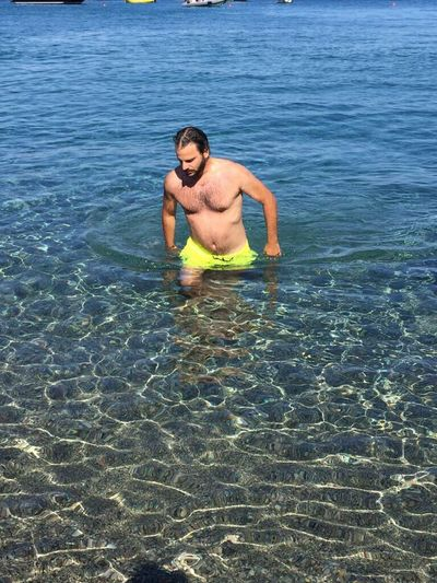 Real People One Person Water Sea Leisure Activity Lifestyles Vacations Shirtless Day Outdoors Men Nature Snorkeling Adventure Swimming One Man Only Scuba Diving Ankle Deep In Water Beauty In Nature Only Men Ponza Italy