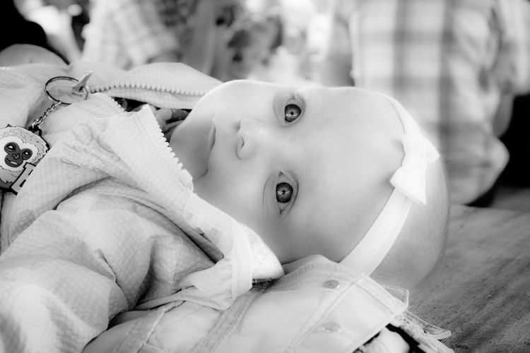 Baby Innocence Cute Babyhood Childhood Real People One Person Newborn Indoors  New Life Lying On Back Focus On Foreground Lying Down Fragility Babies Only Headshot Close-up Pacifier Portrait Day Black And White Friday