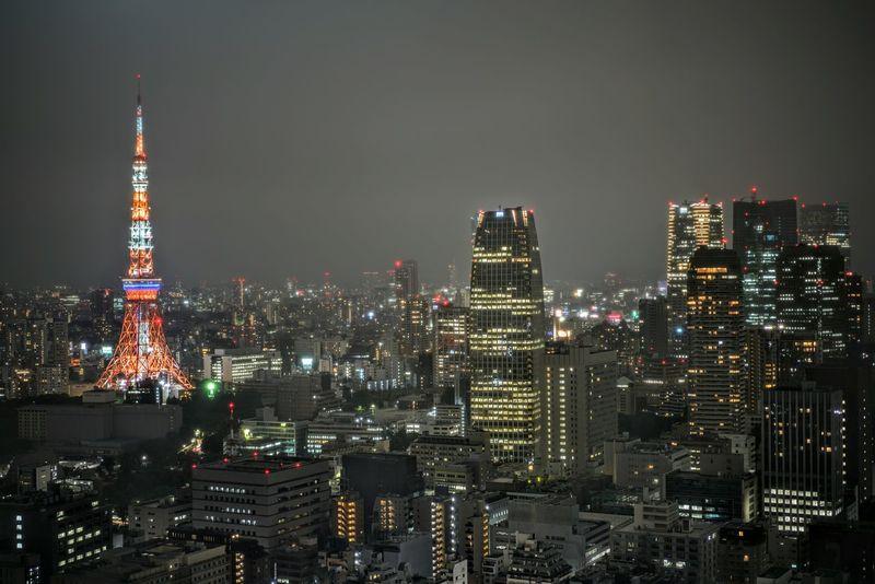 Tokyo Tokyo,Japan Tokyo Tower Tokyo Night Skyline