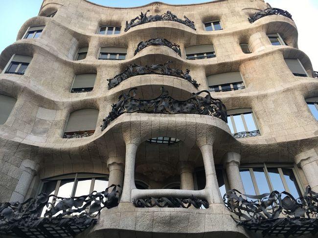 Casa Milà Gaudì Casa Mila ( La Pedrera ) Architecture Low Angle View Built Structure Building Exterior Barcelona Gaudi