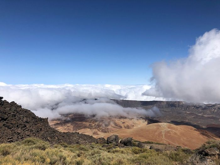 Volcano Teide, Tenerife 🇪🇸 Rock - Object Nofilter Teide National Park Mount Teide Volcano Teide Tenerife Mountain SPAIN Cloud - Sky Clouds Rock - Object Sky Beauty In Nature Scenics - Nature Nature Power In Nature Day Power Geology Cloud - Sky Landscape Outdoors The Great Outdoors - 2018 EyeEm Awards