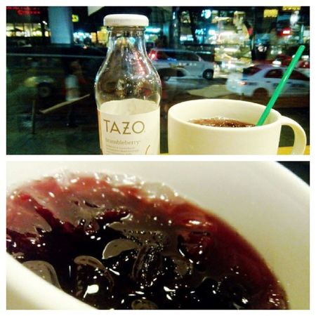 Cheapest drink in starbucks Tazo brumbleberry Pooritamode Chill