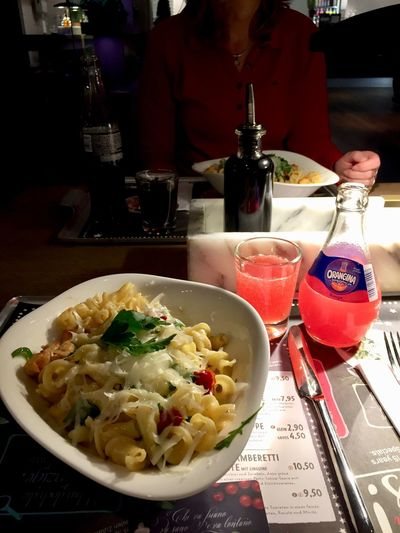 Lieblingsitaliener 🍝🍷🥗🍴 Food And Drink Food Table Freshness Ready-to-eat Indoors  My Best Photo Serving Size Bowl Drink Restaurant Refreshment Close-up Meal Still Life Business Healthy Eating Italian Food Wellbeing Plate Pasta