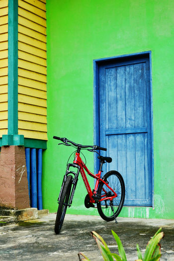 365project2017 51/365 Architecture Bicycle Bicycle Rack Building Exterior Built Structure Day Door Green Color House Land Vehicle Mode Of Transport No People Outdoors Stationary Transportation
