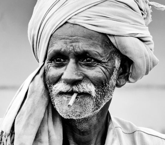 Monochrome Photography Close-up Expression Experience Old Wrinkles Age Life Village
