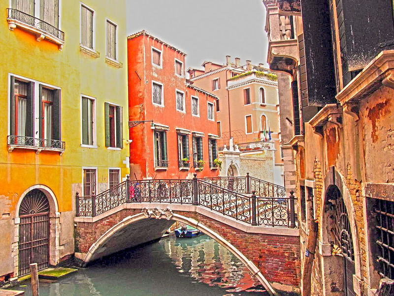 Crossing a Venice canal Architecture Bridge - Man Made Structure Building Exterior Built Structure Canal City Connection Day Gondola - Traditional Boat Gondolier Nautical Vessel No People Outdoors Tourism Transportation Travel Travel Destinations Water