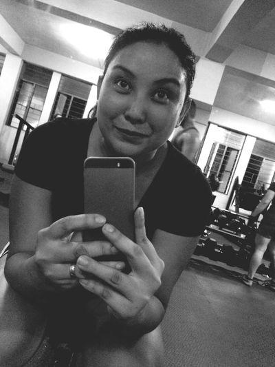 Embrace struggle!!! Sweating It Out Selfie ✌ Gymfie