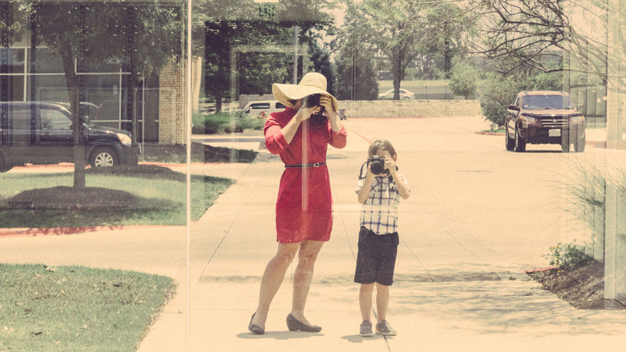 Being Vivian Maier with my son. :) You can try it out, too, and enter the May SP Challenge: G+: https://goo.gl/o5Y0Xt FB: https://goo.gl/jxkQn4 Boy Cameras Casual Clothing City Life Copy Space Day Dress Family Full Length Learning Lifestyle Lifestyles Mother And Son Outdoors People Photography Reflection Selfie Shopping Street Sunhat Sunny Together Two People Woman
