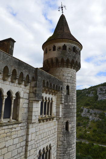 France Rocamadour Architecture Building Exterior Built Structure Citadel Cloud - Sky Day History Low Angle View No People Outdoors Religion Sky Spirituality