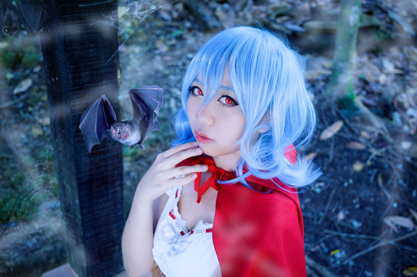 Scarlet Riding Hood Remilia Scarlet Touhou Project Fan Art Cosplay Girl Portrait Vampire Red Riding Hood Asdgraphy