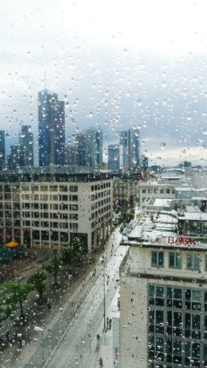 stormy days in Frankfurt Am Main Raindrops On Window Urban Landscape Urban Life Skyline Frankfurt Skyscrapers Showcase June