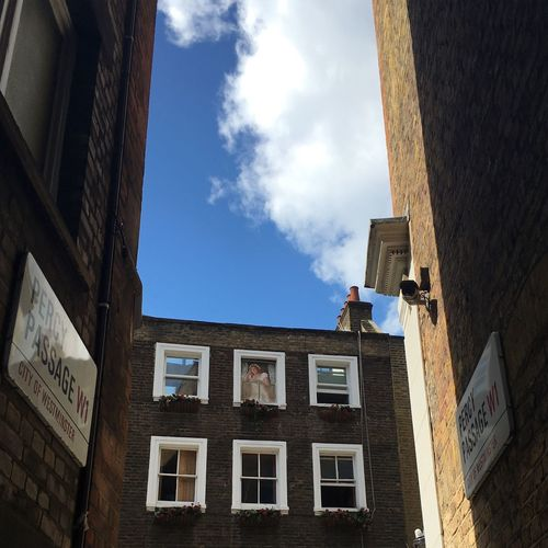 Building Exterior Built Structure Architecture Window Building Low Angle View Residential Building Sky London Residential Structure Family Love Light Colors House City Cloud Blue Historic Cloud - Sky Outdoors Day High Section Exterior City Life