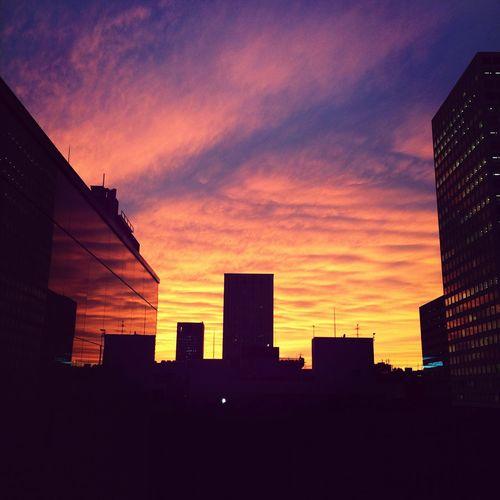 嵐の予感? OSAKA Skyporn Silhouette Sunset_collection