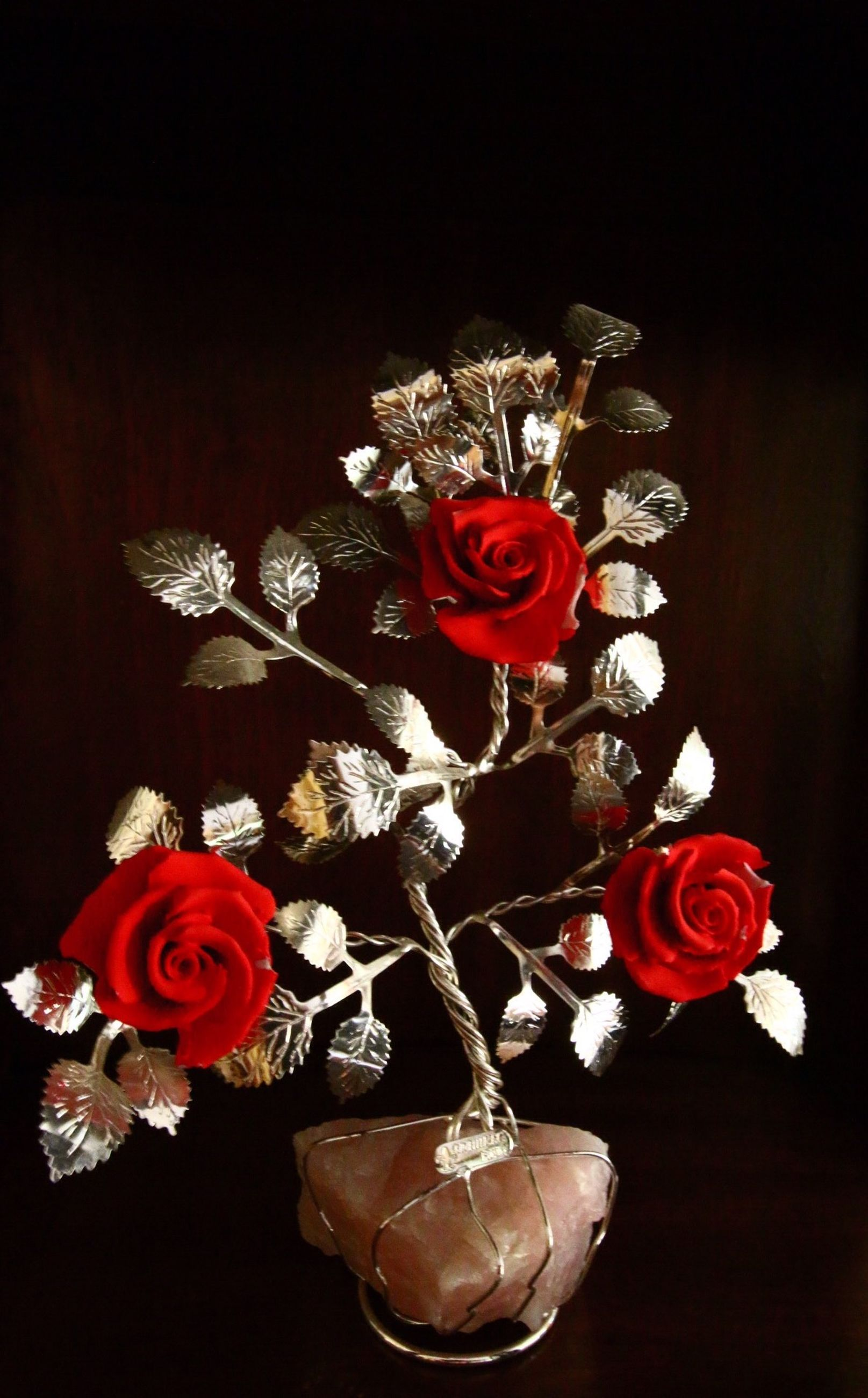 indoors, flower, red, still life, decoration, petal, rose - flower, vase, table, close-up, art and craft, art, home interior, creativity, bouquet, artificial, studio shot, high angle view, human representation, toy