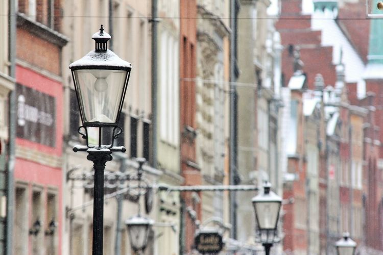 Old Town Architecture Building Exterior Built Structure City Close-up Day Focus On Foreground Gas Light Lantern Lighting Equipment No People Outdoors Street Lamp Street Light