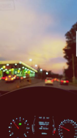 Illuminated Speedometer Nightlife City Car Interior Land Vehicle Car Defocused Road Dashboard Car Point Of View Windshield High Street Highway Tail Light Headlight Vehicle Interior Vehicle Light Multiple Lane Highway