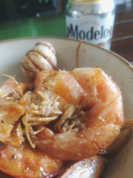 Camarones Food And Drink Food Freshness Comidas Cerveza Corona Modelo👌🍺🍻 Lata Beer Acapulco Food And Drink Retro