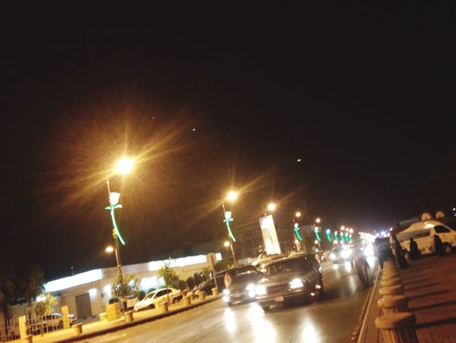 Illuminated Street Light @ Night ...