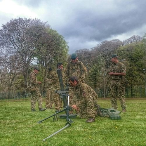 Color Portrait Check This Out Taking Photos Hello World mortar training in Brecon with 1 RIfles