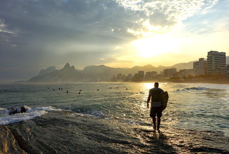 Idyllic seascape from rio de janeiro
