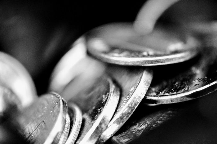 Macro coins in b&w Close-up Black And White Photography Black & White Macro Photography Macro No People Black&white♥ Black&white Photography Macro Beauty Coins Coins Collection Coin