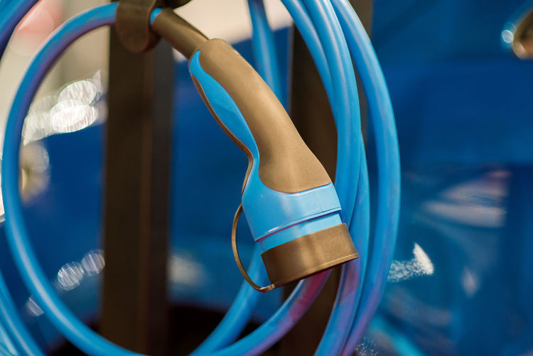 Close-up of blue cable
