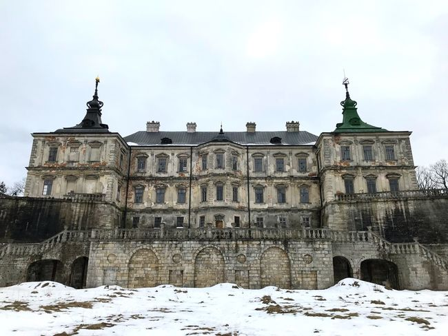 Castle Snow Winter Low Angle View Cold Temperature Architecture Built Structure Day Building Exterior Sky Outdoors No People