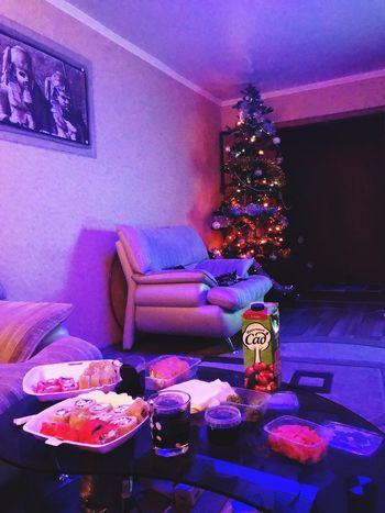 Christmas Illuminated Indoors  Night Christmas Tree Celebration Christmas Decoration