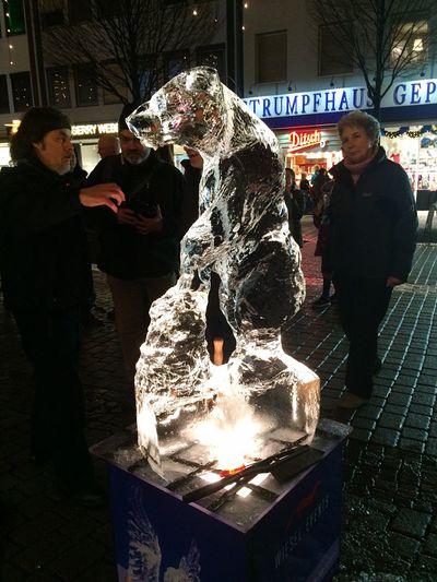 Darmstadt Fire&Ice Icesculpture Nightphotography Nightshot