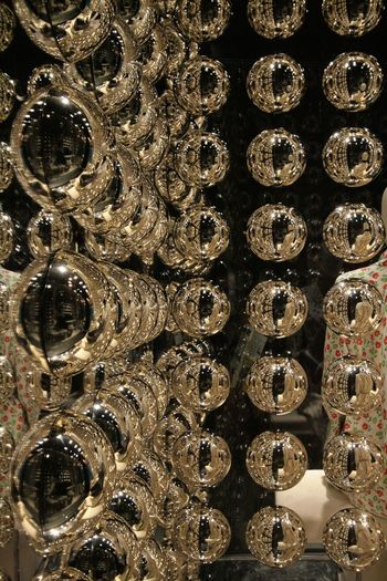 Backgrounds Close-up Day Full Frame Indoors  No People Reflaction Silver Balls