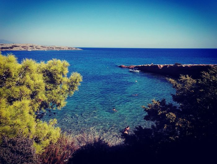 Summer Taking Photos RespectNature Taking Pictures Athens, Greece Water UnderSea Sea Clear Sky Beach Blue Sky Horizon Over Water Reef Seascape Turquoise Colored Coast Rocky Coastline Pebble Beach