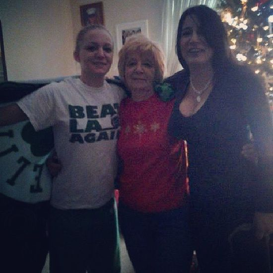Christmas morning 2013 TBT  3generations Mom Grandmother