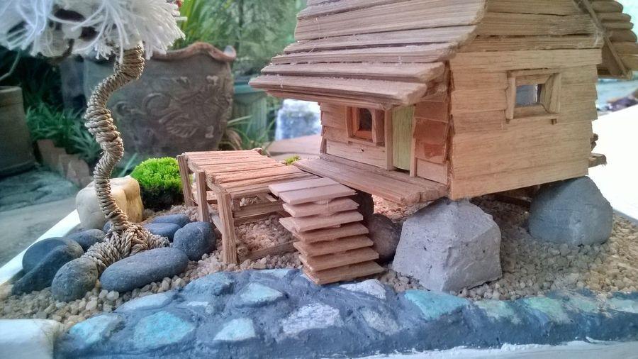 the hut, DIY Miniature Mini Zen Garden