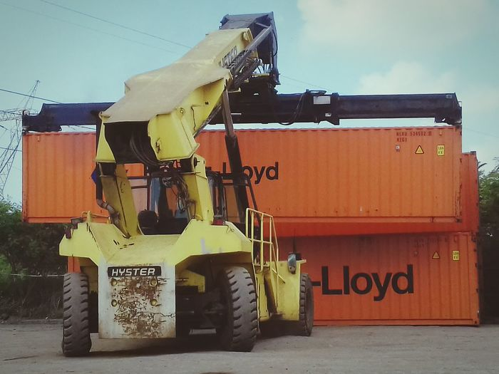 Forklift Reachstacker Cargo Container Yard Container Yard Hyster Hydraulic