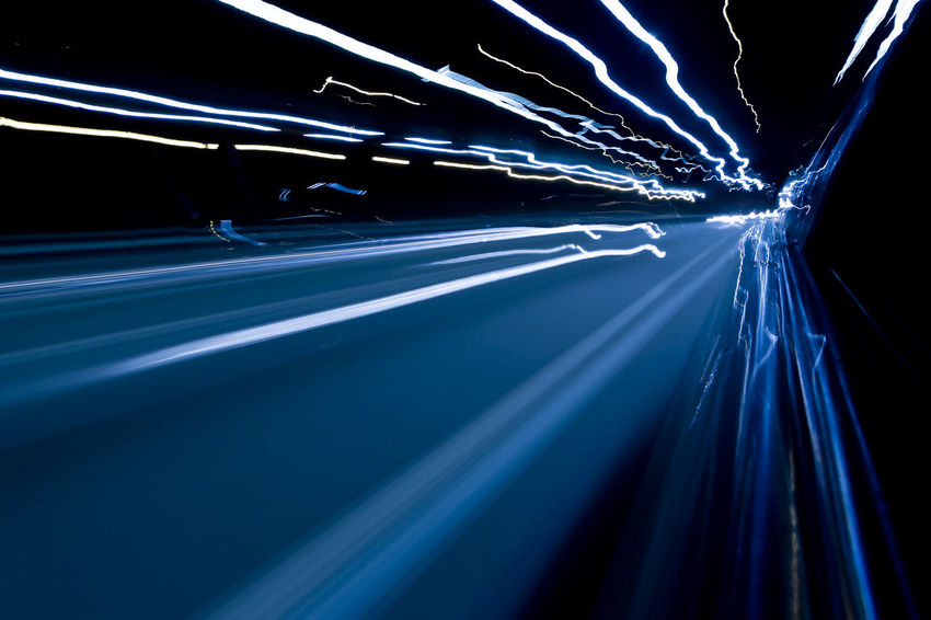 Art images. Abstract effect. The wild light from the car lights and street lights enters the camera lens along the highway at night Beautiful Driving Lines Nature Abstract darkness and light Light And Shadow Objects And Nature Outdoors Slow Speed