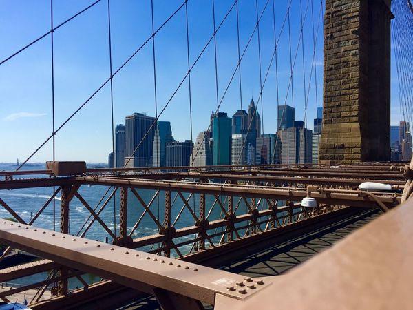 Architecture Bridge Bridge - Man Made Structure Brooklyn Brooklyn Bridge  Brooklyn Bridge / New York Built Structure Manhattan New York New York City NYC Skyscraper Suspension Bridge Travel Destinations Urban Skyline