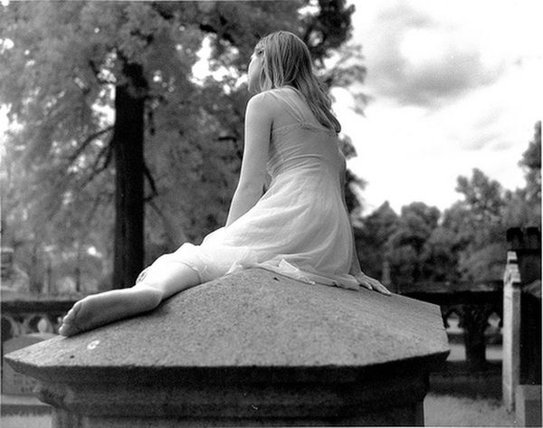 Portrait Of A Woman Cemetery Infrared Monochrome_Monday