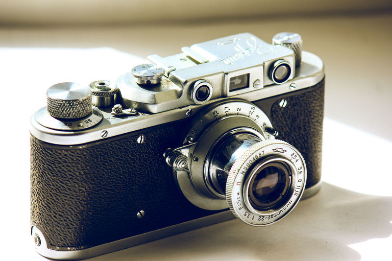My first camera 1963 came from my grandfather Antique Camera Camera - Photographic Equipment Camera Flash Close-up Day Indoors  Movie Camera No People Old-fashioned Photography Themes Retro Styled Single Object Still Life Table Technology Vintage